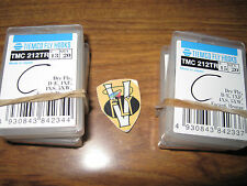 20 Each Tiemco TMC 212TR Ultimate Dry Fly Bronze Down Eye Hooks Size 13 & 15