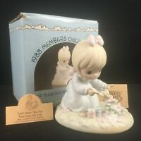 VTG 1988 Precious Moments Figurine God Bless You For Touching My Life PM-881