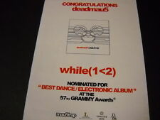 DEADMAU5 Nominated For Grammy Award 2015 PROMO DISPLAY AD mint condition