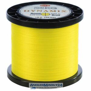 230m WFT Round Dynamix gelb Ø 0,16mm - 14kg Rest geflochtene Angelschnur Schnur