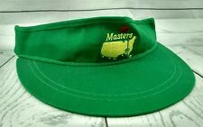 UNDATED MASTERS GOLF VISOR HAT GREEN MADE IN USA American Needle ADJUSTABLE