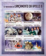 NASA APOLLO 8 Moon Spaceflight / Astronaut Space Stamp Sheet/2013 Mozambique