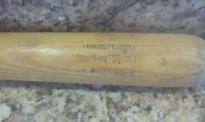 WILSON A 1300 A1300 BAT MICKEY MANTLE FAMOUS PLAYERS 1950'S OR 1960'S  35 OZ