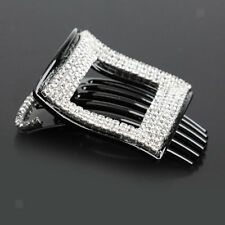 Acrylic Full Crystal Hair Comb Clip Barrette Clamp Claw Hair Jewelry Gift