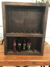 Duck Call Display Box Holder Wood Rustic Decor Hunting Waterfowl Gift Hanging 14