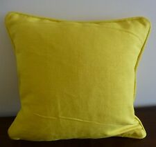 Lollipop Yellow heavy cotton cushion cover 40 x 40
