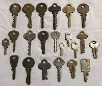 Lot Of 22 Vintage Keys By Dominion Lock Co. Milock, Eagle, Schlage, Bell + (K19)