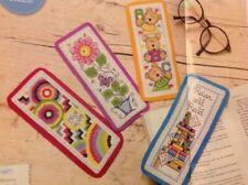 Joan Elliott Bookmarks Teddy Bears Bright Retro Flower Cross Stitch Chart