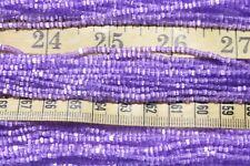 9/0  3-Cut Satin Solgel Anemone Crafts, Jewelry Making Czech Glass Seed Beads
