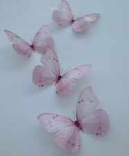 4 Girls Pink Butterfly Bedroom Furniture Decorations Wall Decals 3D Removable