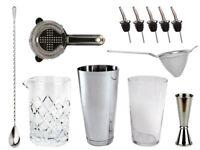 NEW Bartender's Bar Kit with Boston Cocktail Shaker & Glass - Drinks Bar Set