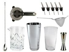 NEW Bartender's Bar Kit with Boston Cocktail Shaker & Glass - Drinks Bar Set