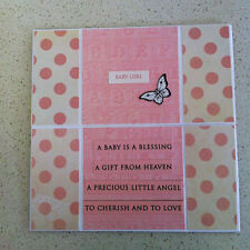 Handmade ENDLESS card Welcome Little One GIRL For Your Shower watch video
