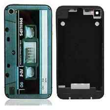 Retro Cassette Tape Replacement Back Housing iPhone 4S Case Glass Cover