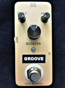 GROOVE BOOSTER GB1 guitar effects pedal,  True by-pass