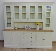New Solid Pine 7ft Painted Welsh Dresser Dining Kitchen Unit In Any F B Colour