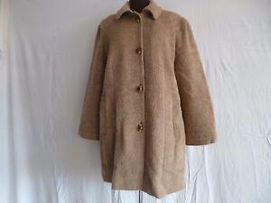 Manteau femme luxe Baxter laine de lama t 54 56 XL Noir