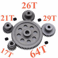 11184 Steel Metal Spur Differential Main Gear 64T Motor Pinion Gears HSP Redcat