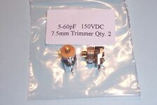 5-60 pF trimmer capacitors Sprague  2pcs. NEW Other values stocked
