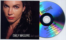 EMILY MAGUIRE Dont Speak 2014 UK 1-trk promo test CD radio edit