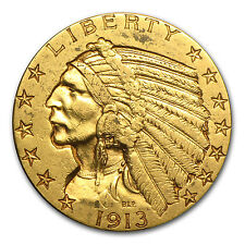 $5 Indian Gold Half Eagle Coin - Extra Fine