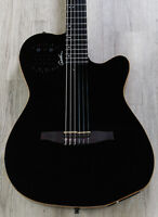 Godin ACS SLIM Nylon Synth Access Acoustic-Electric Guitar Black Pearl HG w/ Bag