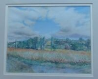 FRANCE CHARENTE, ORIGINAL PASTEL PAINTING BY PATRICIA RAWSON-GARDINER, SIGNED