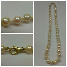 Bead Chain Akoya Pearls with Lock 46 cm