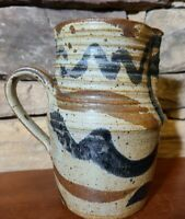 Studio Art Pottery Pitcher Signed Marked Hand Thrown Handmade Glazed Clay