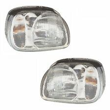 For Nissan Micra K11 Hatchback 1998-2000 Headlights Headlamps 1 Pair O/S & N/S