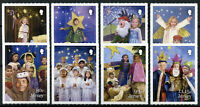 Jersey Christmas Stamps 2019 MNH Childrens Nativity Play Angels 8v S/A Set