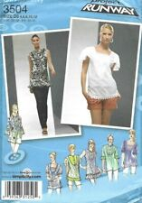Simplicity Sew Pattern 3504, Project Runway, Tops with Neckline Detail, 4-12 New