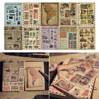 10 Sheets/pack Vintage Paper Stickers DIY Scrapbooking Album Diary Craft OZB Cw
