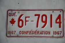 Original Autonummer der Provinz QUEBEC CANADA