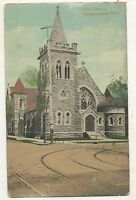 Trinity Church BINGHAMTON NY Vintage 1917 New York Postcard