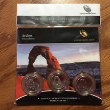 2014 Arches Natl Park Three-Coin 3-Coin Set America Mint Set P89 ATB Quarter