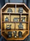 PLAY ME brand vintage pencil sharpners 10 total With Shelf
