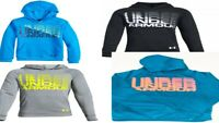 Under Armour Big Boys Rival Logo Hoodie Size SM, Med, Lg Teal, Black, Gray, Blue