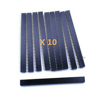 10* New 40Pin 2.54mm Single Row Straight Female Pin Header Strip PBC Ardunio