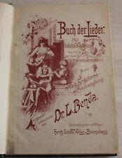 BUCH der Lieder - 253 beliebte Volksweiser + ERLANGER 10 Morceaux Religieux 1891