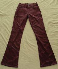 WESTCO FBI silky PANTS stretch Retro PANTS Port Wine 27W  NEW! ~ Women sz 5 to 6