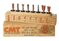 """CMT 800.500.11 8 Piece Dovetail and Straight bit sets 1/4"""" Shank (New)"""