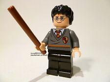 LEGO GENUINE 'HARRY POTTER GRYFFINDOR STRIPE & CREST UNIFORM' MINIFIGURE & WAND