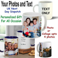 Personalized Custom Text Photo Mug Gift Present Father Day Mother Birthday Gift