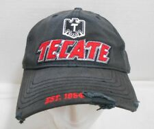 Tecate Italian Motorcycle Black Baseball Hat Cap Fitted Worn Distressed Biker