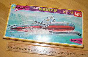 RARE & Vintage LS 1:72 Japanese Navy Mini Submarine KAIRYU model kit