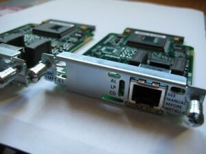CISCO- lot de 2 mod VWIC-1MFT-E1 (1-Port E1 Multiflex Trunk Voice/WAN Interface)