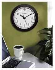 NEW La Crosse 10-Inch Atomic Analog Indoor Wall Clock, Black