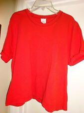Ladies Size Medium RED Short Sleeve Knit Top Cotton