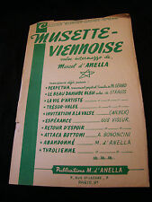 Partition Musette Viennese Anella Music Sheet